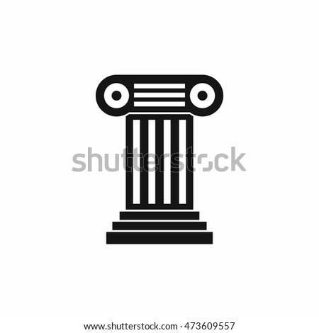 Roman column icon in simple style isolated on white background. Structure symbol