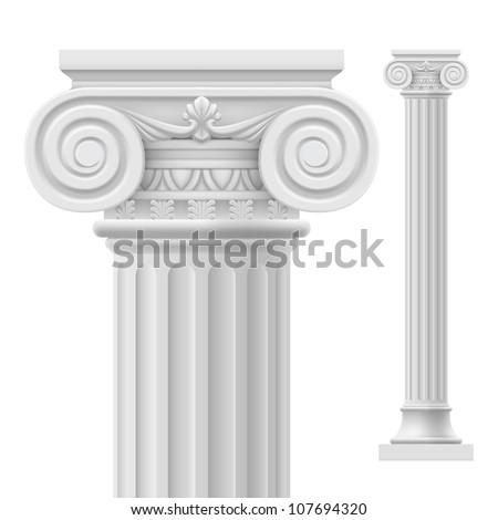 Roman column.  Illustration on white background for design - stock vector