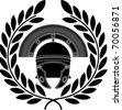 roman helmet. stencil. third variant. vector illustration - stock vector