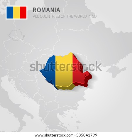 Romania neighboring countries europe administrative map stock vector romania and neighboring countries europe administrative map gumiabroncs Image collections