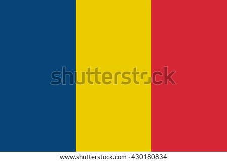 Romania flag official proportions correct, vector illustration - stock vector