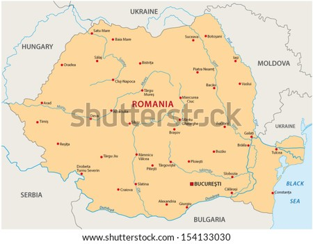 Romania Map Stock Images RoyaltyFree Images Vectors Shutterstock - Romania map