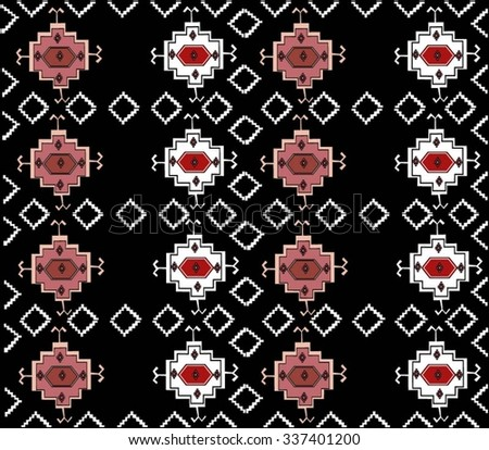 Romania Traditional Old Pattern - stock vector