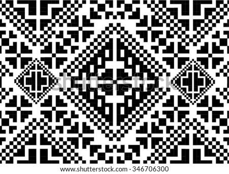 Romania Traditional Old Pattern Isolated - stock vector