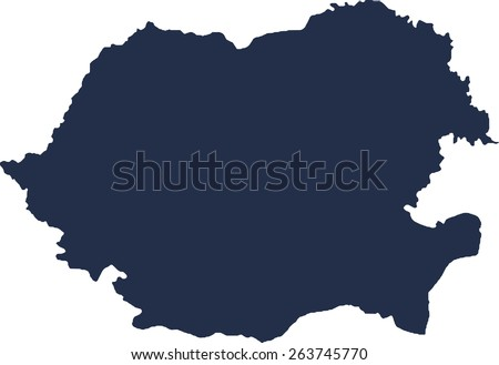 Romania Vector map. High detailed.  - stock vector