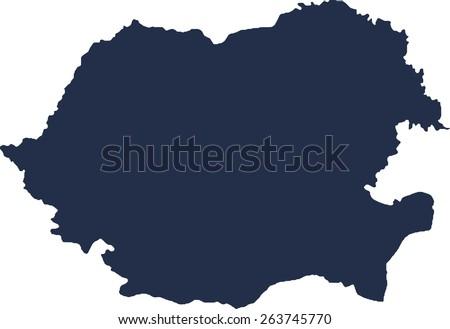 Romania Vector map. High detailed.  - stock vector