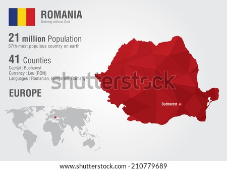 Romania world map pixel diamond texture stock vector royalty free romania world map with a pixel diamond texture world geography gumiabroncs Image collections