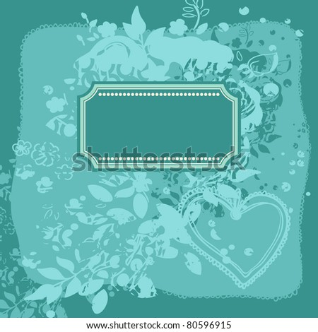 romantic floral card with roses - stock vector