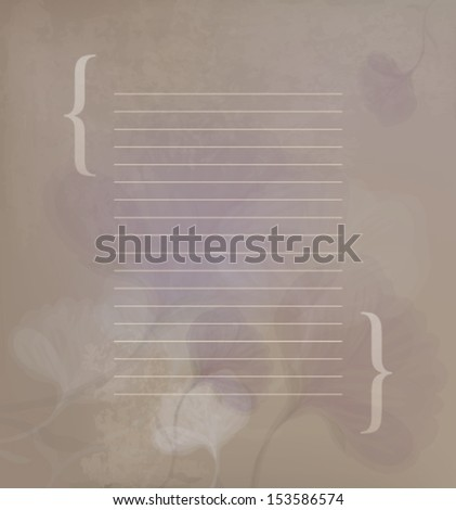 Romantic floral letter / Vintage template to further customize   - stock vector