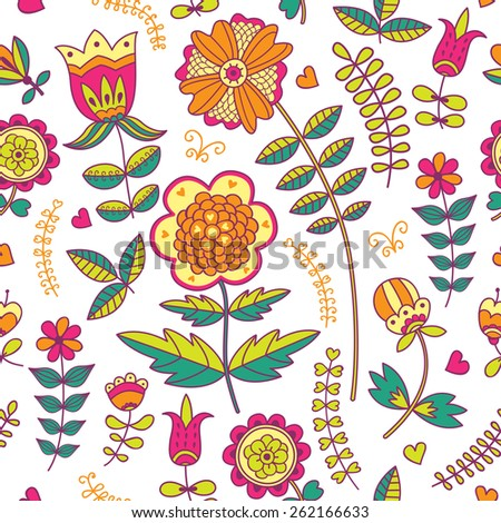 Romantic floral pattern. Seamless pattern can be used for wallpaper, pattern fills, web page background, surface textures