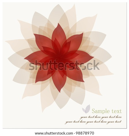 Romantic Flower Background. Vector illustration. - stock vector