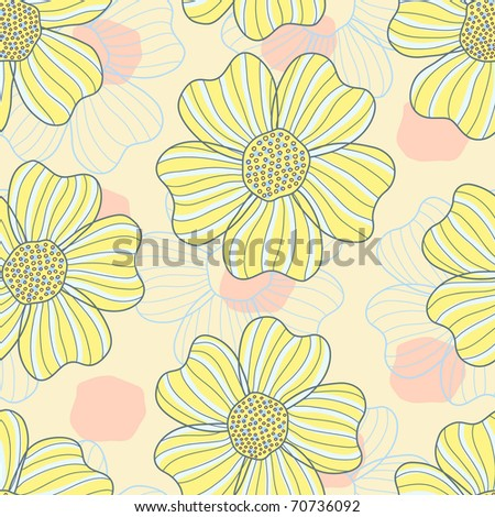 romantic flower seamless pattern - stock vector
