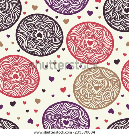 romantic holiday seamless texture - stock vector