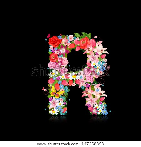 Romantic Letter Of Beautiful Flowers R