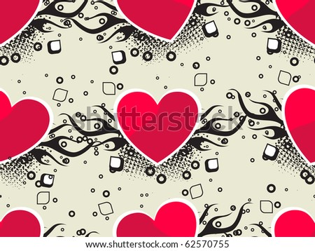 romantic pattern background, vector illustration - stock vector