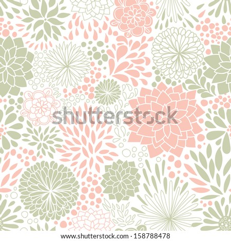 Romantic seamless floral pattern. Seamless pattern can be used for wallpaper, pattern fills, web page backgrounds, surface textures. Gorgeous seamless floral background. - stock vector