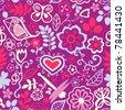 Romantic seamless pattern - stock vector