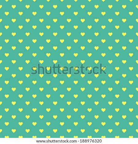 Romantic seamless pattern with hearts. Vector illustration. Background - stock vector