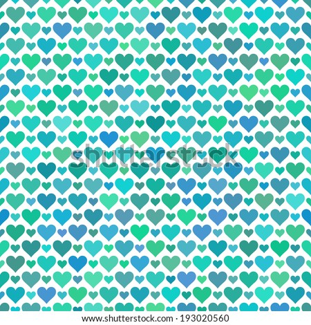 Romantic seamless pattern with hearts. Vector illustration. Background. Endless texture can be used for printing onto fabric and paper or scrap booking.  - stock vector