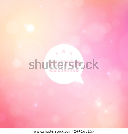 romantic shiny blurred vector background with lights for banner, website, presentation or brochure.