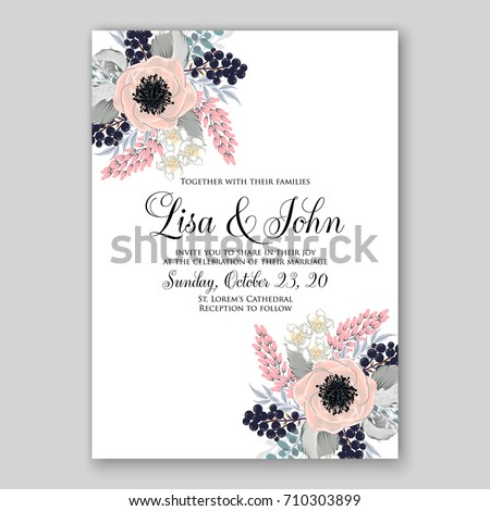 Romantic spring floral rustic flowers background stock vector hd romantic spring floral of rustic flowers background for wedding invitation vector template card cream ranunkulus anemone stopboris Image collections