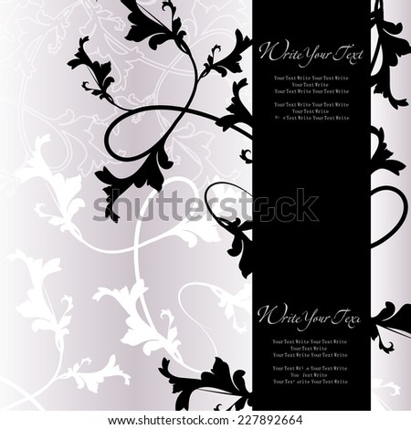 Romantic vintage background in damask style. Vector wedding invitations or announcements - stock vector
