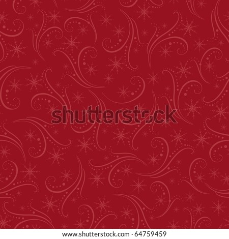 Romantic winter christmas seamless background (EPS10) - stock vector