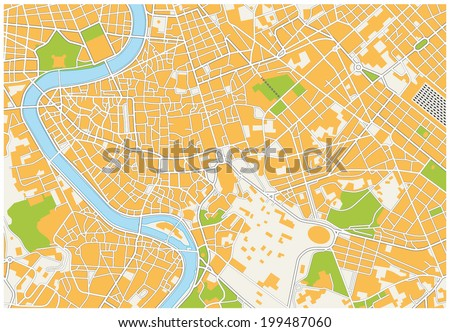 Rome City Map Stock Vector 199487060 Shutterstock
