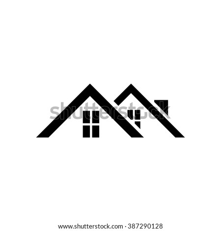 Roof of the house icon.  - stock vector