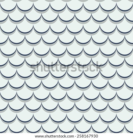 Roof tiles seamless pattern design - stock vector