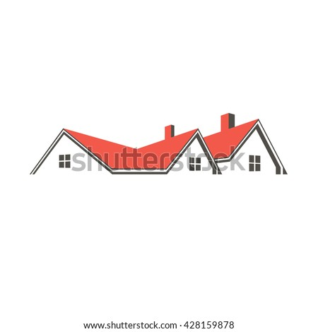 Roof top houses logo. Vector graphic design