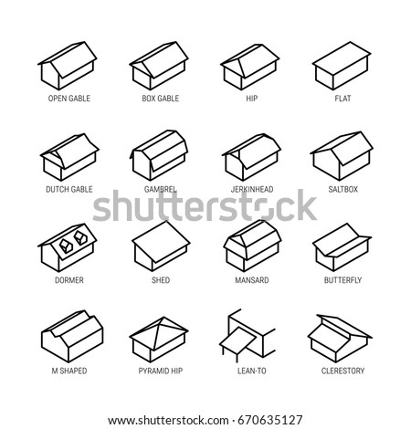 Gable roof stock images royalty free images vectors for Roof type names