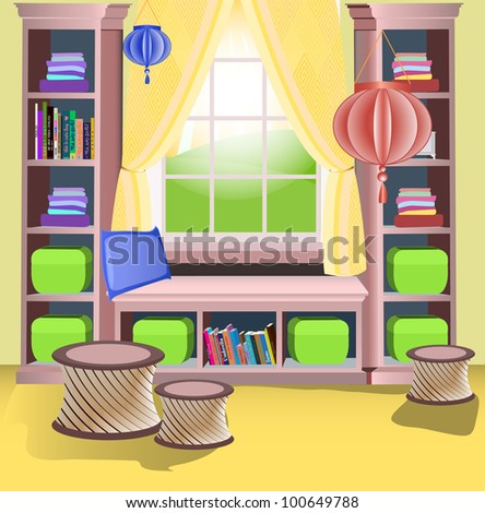 room for girl - stock vector