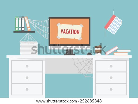room is untidy because of a vacation - stock vector