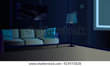 Dark Living Room At Night dark room stock images, royalty-free images & vectors | shutterstock
