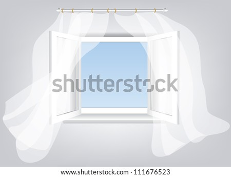white curtains open window stock photos, royalty-free images