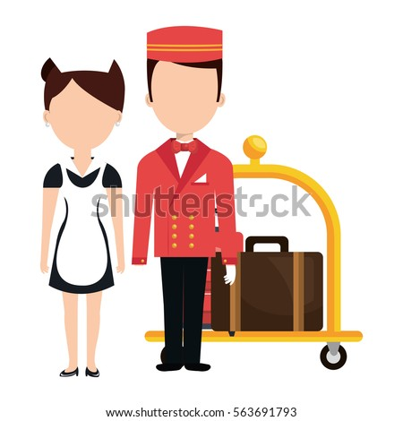 Bellboy stock images royalty free images vectors for Character hotel