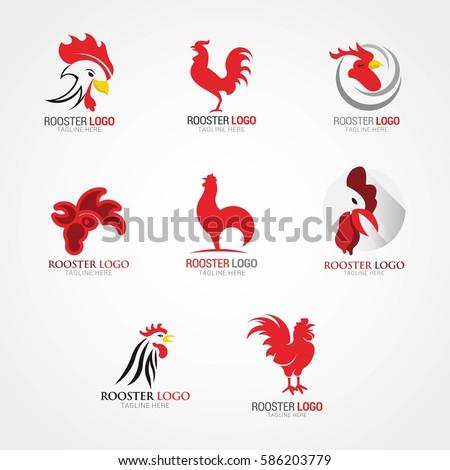 Rooster Logo Design Template Vector Illustration Stock Vector HD ...