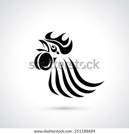 Rooster - vector illustration - stock vector