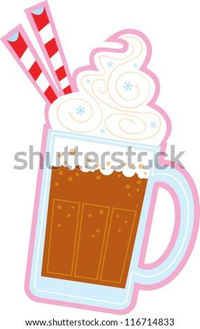 root beer float stock vector 2018 116714833 shutterstock rh shutterstock com Root Beer Float Graphic Root Beer Float Cartoon