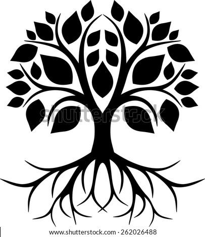 Roots tree - stock vector