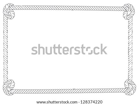 rope border grey white color knots stock vector 2018 128374220 rh shutterstock com nautical rope border vector free free rope border vector