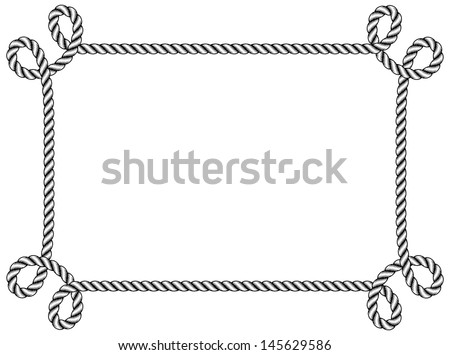rope frame stock vector hd royalty free 145629586 shutterstock rh shutterstock com free rope border vector rope border vector free