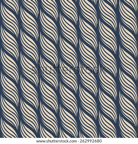 Rope geometric pattern - stock vector