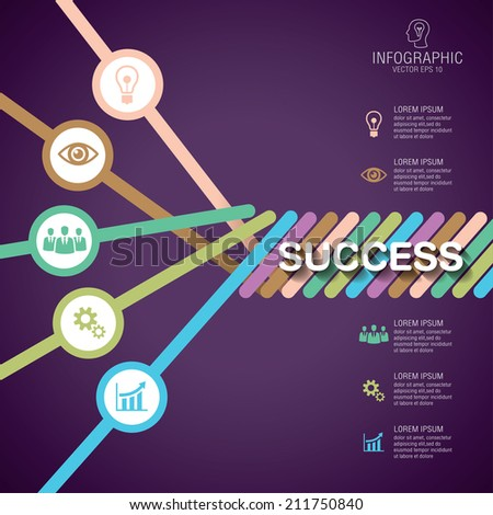 Rope Inspiration, Vector illustration can be used for business success strategy plan idea, Inspiration concept modern design template work flow layout, step up options - stock vector