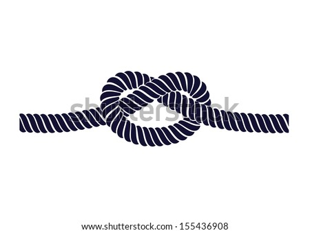 rope knot on a white background - stock vector