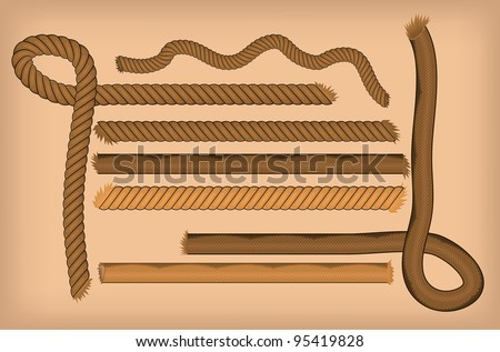Rope set - stock vector
