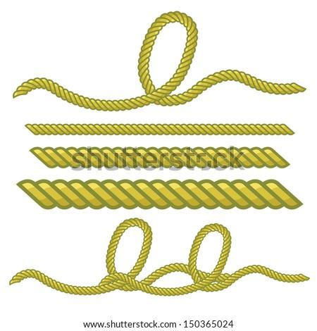 rope vector - stock vector