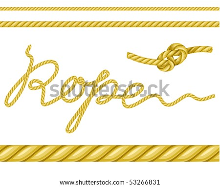 rope (you can easy use it to make a brush) - stock vector
