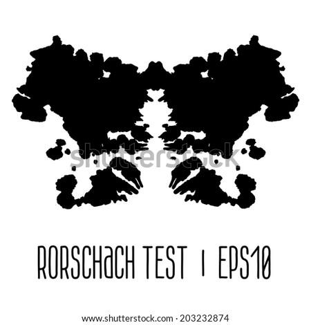 Rorschach inkblot test illustration - stock vector